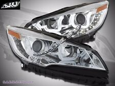 2013-2015  Ford Escape LED U Bar Style Chrome Projector Headlights Pair