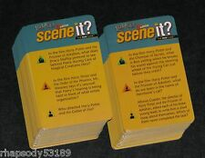 Harry Potter 2nd Edition Scene It Trivia Game Card Set 2007 Mattel
