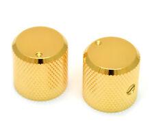 (2) Gold Dot Barrel Guitar/Bass Knobs for 6mm Split Shaft Pots MK-3330-002