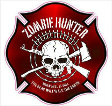 "Zombie Hunter Decal 5"" x 5"""