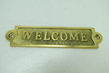 5+1/2 INCH BRONZE WELCOME DECK SIGN PLAQUE BOAT SHIP SAILBOAT SAIL TUG