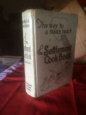 VINTAGE THE WAY TO A MAN'S HEART THE SETTLEMENT COOK BOOK Condition Poor