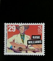 1993 29c Hank Williams, Country Music Hall of Fame Scott 2723 Mint F/VF NH