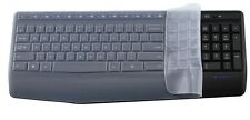 Clear Silicone Keyboard Protectors Skin Covers guard For Logitech MK345 K345
