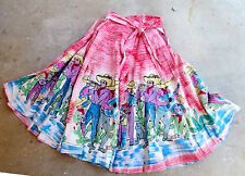 Mexican Full Circle Skirt - Mariachis - Vintage 1950s - Mariachi Bands - Music