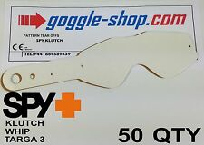 50 qty GOGGLE-SHOP MOTOCROSS TEAR OFFS to fit SPY KLUTCH WHIP TARGA 3 GOGGLES