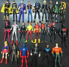 "LOT OF 24 DC UNIVERSE YOUNG JUSTICE JLU CHESHIRE ROBIN ARTEMIS .. FIGURE 4"" #GJ6"