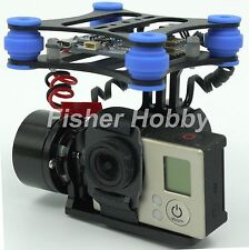 DJI Phantom Brushless Gimbal Camera Frame +2*Motors +Controller for Gopro3 FPV