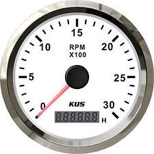 85mm White KUS Tachometer 0-3000rpm for diesel engine CMHB-WS-3KL (SV-KY07111)