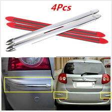 4x SILVER Car SUV Body Bumper Scratches Cover Anti-rub Exterior Strips for Audi
