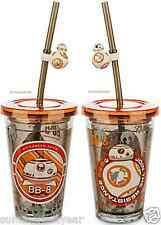 BB-8 TUMBLER WITH STRAW STAR WARS: THE FORCE AWAKENS DISNEY STORE FREE SHIP