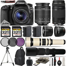 Canon EOS 80D Digital SLR Wi-Fi Camera + 18-55mm + 75-300mm III Lens - 64GB Kit