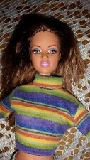 Bambola BARBIE MORA Teresa Marrone Scuro Capelli Corpo poseble