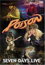 POISON - SEVEN DAYS LIVE (1993 - LIVE AT HAMMERSMITH) DVD ALL REGIONS