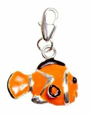 Silver Clown Fish Clip On Charms Bead For Charm Bracelets