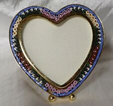 Vintage Italian Micro Mosaic HEART Freestanding picture frame