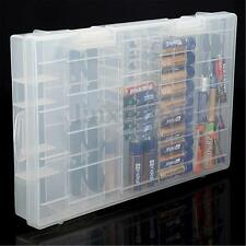 Battery Holder Hard Plastic Transparent Case Storage Box Rack For AAA AA C D 9V