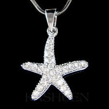 w Swarovski Crystal Sea Ocean Beach Wedding ~STARFISH Star Fish Necklace Jewelry