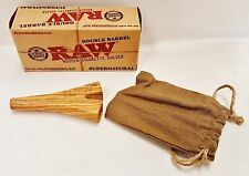 """New RAW Wood Double Barrel """"SUPERNATURAL"""" Cigarette Holder Free Shipping"""