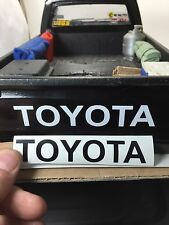TOYOTA Tailgate Sticker Decal BLACK 1:10 Scale Trail Finder 2 TF2 RC4WD TAMIYA