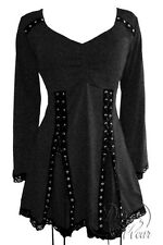NWT WOMENS PLUS SIZE CLOTHING ELECTRA CORSET TOP IN CHARCOAL 2X