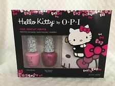 New OPI HELLO KITTY 3 PC Nail Polish Set with COIN Purse 2 Full Size - PINK