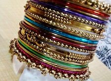 Girls Designer Party wear multicolor Antique 20 pc  bangle set (size 2.4)