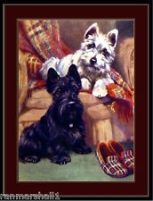 Picture Print Scottish West Highland Terrier Dog Dogs Puppy Puppies Poster Art