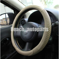 New Steering Wheel Cover Circle Cool Leather 14.96 INCH (Diameter) Beige