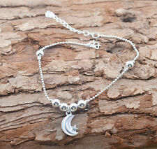 New 925 Sterling Silver Plated Anklet Foot Chain soles Ankle Barefoot Bracelet