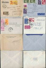 VIETNAM 1952-62 CONG HOA MULTI FRANKING + AIRMAIL...4 COVERS