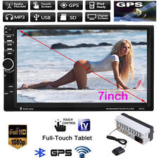 "7"" Double 2DIN Car MP5 MP3 Player Bluetooth TouchScreen Stereo Radio USB/AUX GPS"