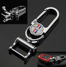 3D Auto Car Emblems Smart Remote Key ring fob Holder Keychain For fit Mustang