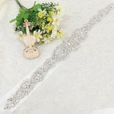 "Christmas Day Wedding Dress Sash Belt - Crystal Sash Belt = 17"" Long = Big Sale!"