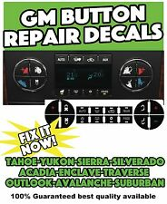 2007-2009 BUICK ENCLAVE A/C BUTTON CLIMATE CONTROL DECALS STICKERS REPAIR