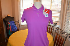 Womens Puma Cool Max pounce cresting polo golf shirt Sz S small  NEW WITH TAGS