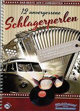 Steirische Harmonika Noten : 12 unvergessene Schlagerperlen m. CD - mittelschwer