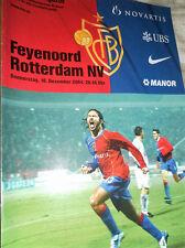 COPPA UEFA 2004/5 FC Basel V CALCIO FEYENOORD
