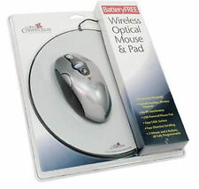 Battery Free Eco Friendly Wireless Optical Silver Mouse & Pad USB Connection NEW