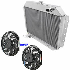"1968-1979 Ford F250 Truck Radiator & Dual 12"" Fans Champion 3 Row Aluminum"
