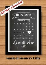 Anniversary gift chalkboard style personalised couples wedding print love
