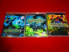 EMPTY Replacement Cases!! Syphon Filter 1 2 3 - PS1 Playstation Bundle Trilogy