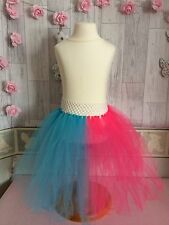 Harley Quinn Suicide Squad Tulle Tutu  Skirt World Book Day Dress Up Girls