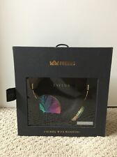 Authentic Frends with Benefits 'Taylor' Oil Slick Headphones In Box W/ Case