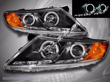 FOR 11-13 OPTIMA NEW CCFL PROJECTOR HEADLIGHTS TWIN HALO LED STRIPS R8 STYLE