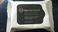 Beauticontrol MakeUp Remover Wipes 30 Tissues Vitamin E Cucumber Skin Softening
