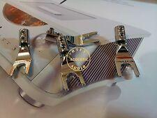 4Pc Copper Rhodium Plate Speaker Cable Y Spade Terminal Amplifier Connector Plug