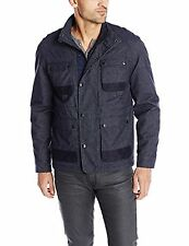 NEW $198 CALVIN KLEIN NAVY COATED MELANGE WATER RESIST 41QO407 FIELD JACKET XL