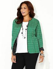 CATHERINES Lightweight Quilted Reversible Jacket Plus size 3X (26/28W) New $98