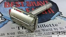 1958 D2 Gillette Flare Tip Super Speed Vintage Double Edge Safety Razor